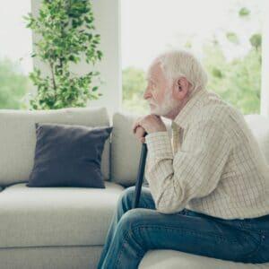 Elderly man with Alzheimers Dementia