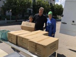 Torrey Holistics donating N95 masks to local hospitals.