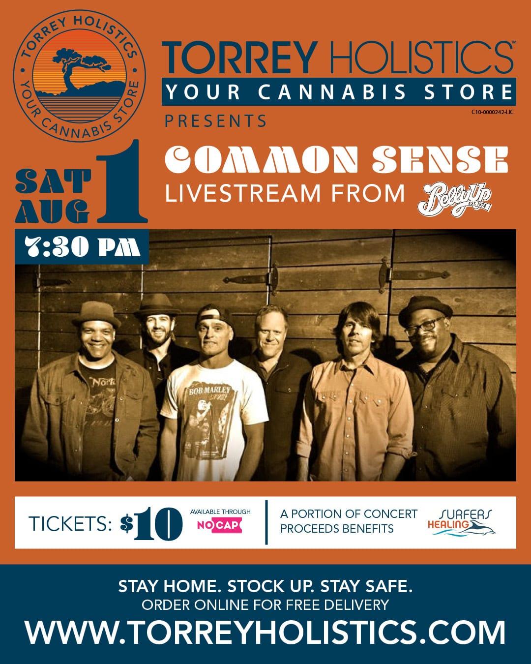 Torrey Holistics Presents Common Sense: A Livestream Concert