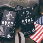 Helmand Valley Growers Company vape boxes on American flag