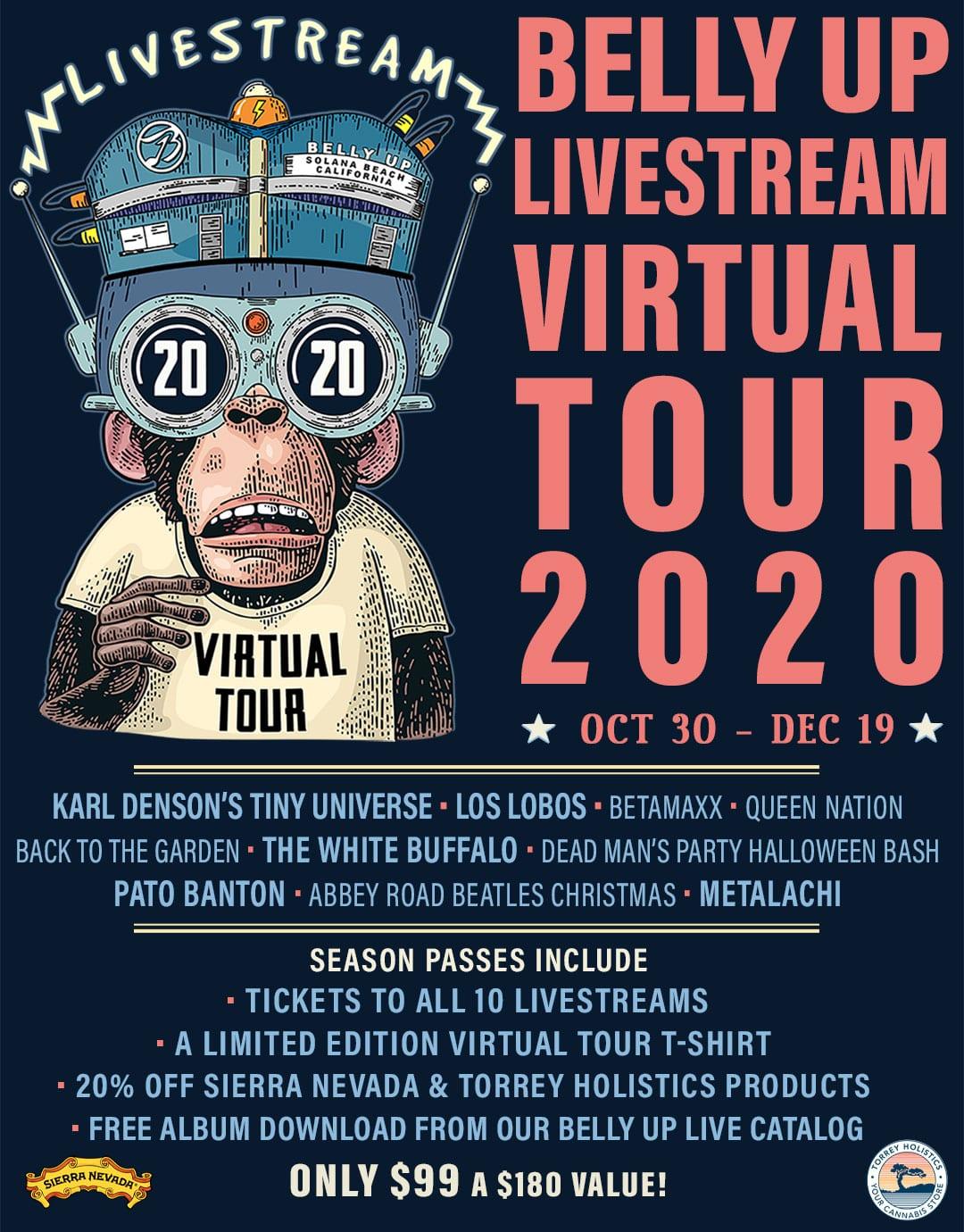 Belly Up Livestream Virtual Tour 2020