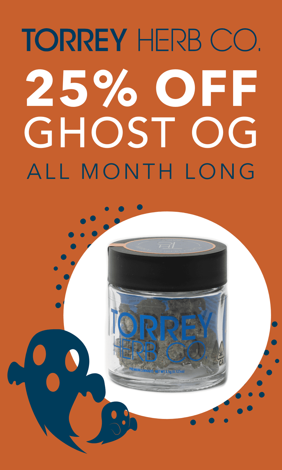 Take 25% off Ghost OG all month long