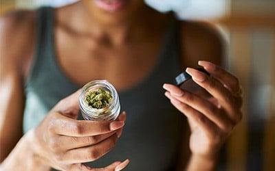 Woman Cannabis Flower