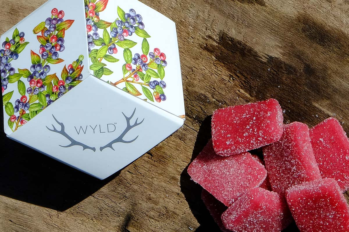 WYLD huckleberry gummies