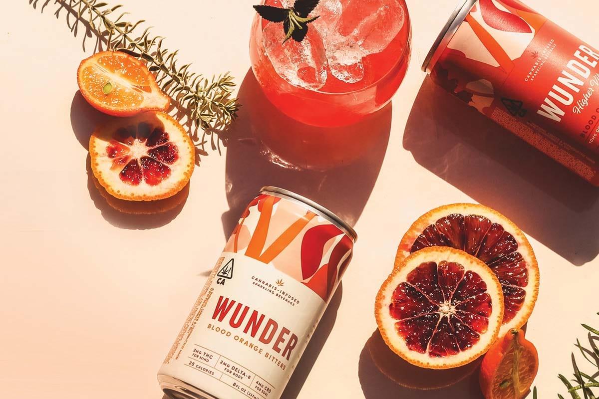 Wunder Blood Orange Cannabis Infused Sparkling Beverage